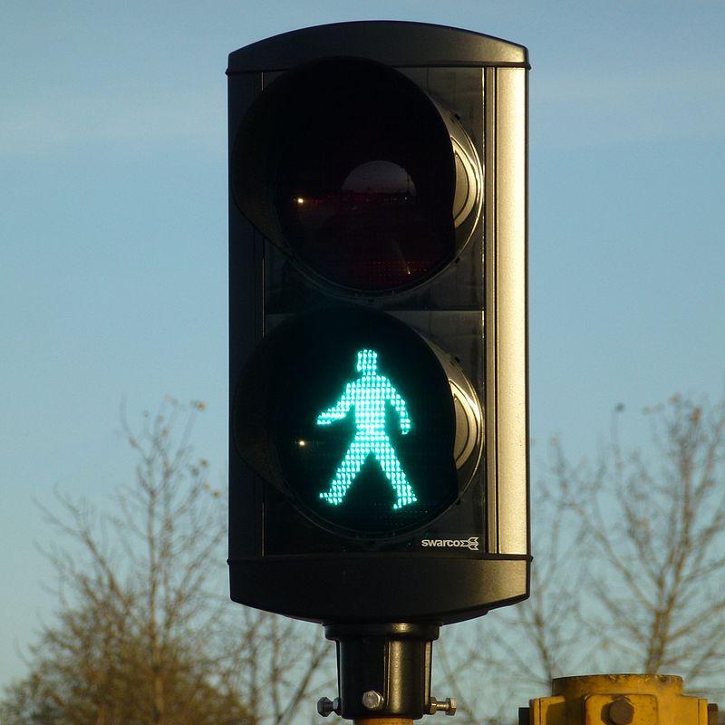 Bild av trafiksignal för gående
